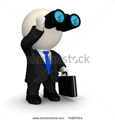Man Looking Through Binoculars Clipart 3d Business Man Looking