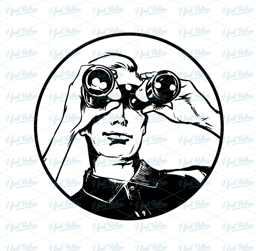 Man Looking Through Binoculars Clipart Man Binoculars Clip Art