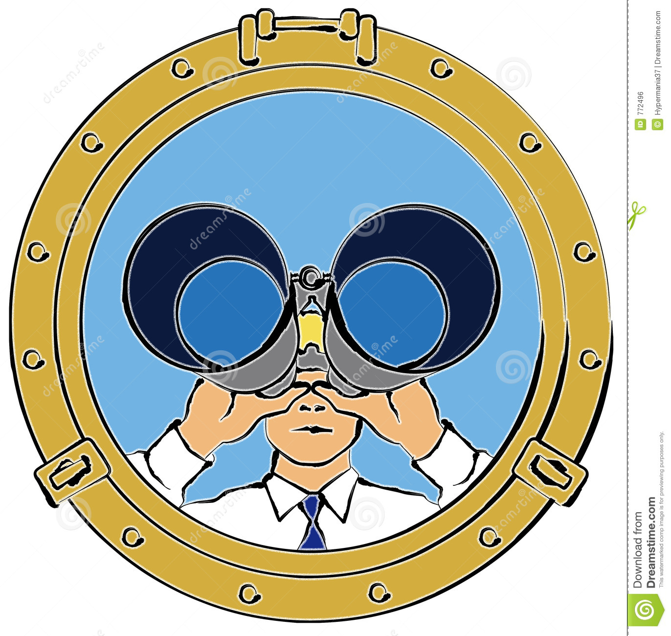Man Looking Through Binoculars Royalty Free Stock Image   Image