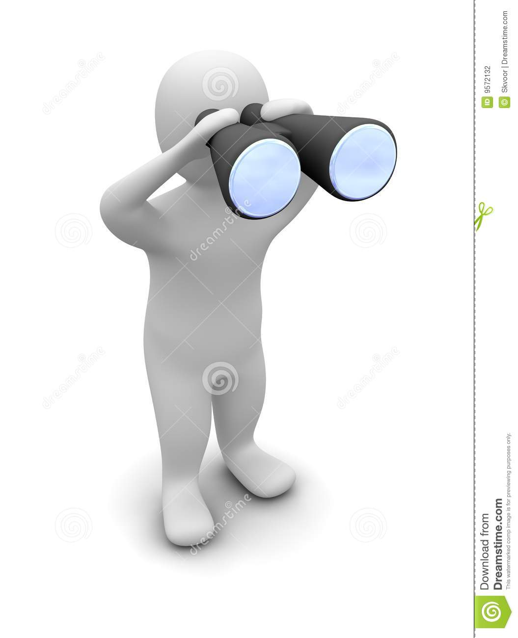 Man Looking Through Binoculars Stock Photography   Image  9572132