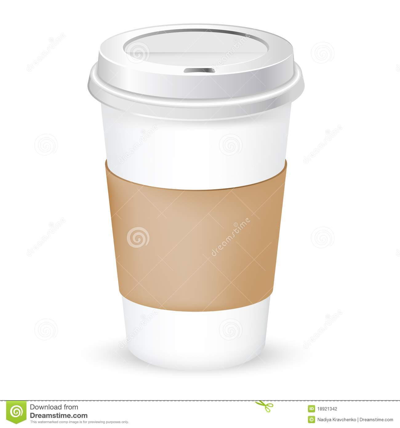 Paper Coffee Cup As Illustration Of Coffee Take Out Vector