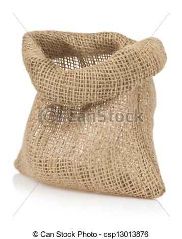 Picture Of Empty Burlap Sack Bag On White   Empty Burlap Sack Bag