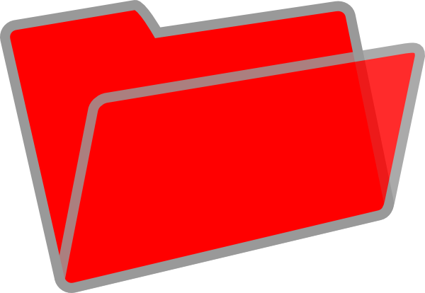 Red Folder Clipart Red And Grey Folder Clip Art