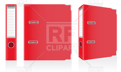 Red Folder With Binder Metal Rings Objects Download Royalty Free