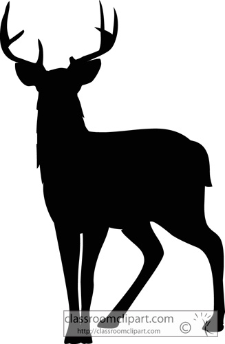 Deer Silhouette Clipart - Clipart Suggest
