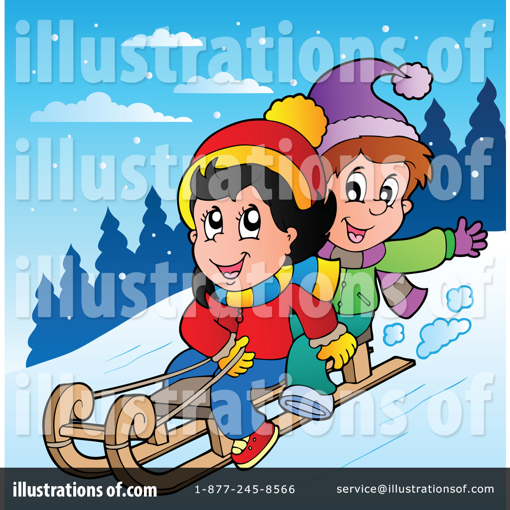 Sledding Clipart  1083338   Illustration By Visekart