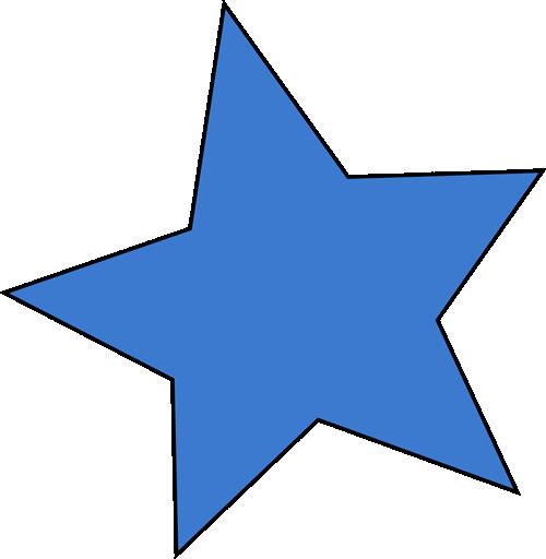 Blue Star Clip Art Image   A Blue Star Clip Art Image In Transparent
