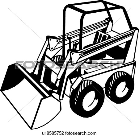 Clipart    Heavy Equipment Bobcat Construction Trade   Fotosearch