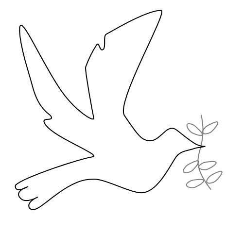 Dove Of Peace Coloring Page   Dove Of Peace