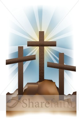 Golgotha Hill Crosses   Cross Clipart