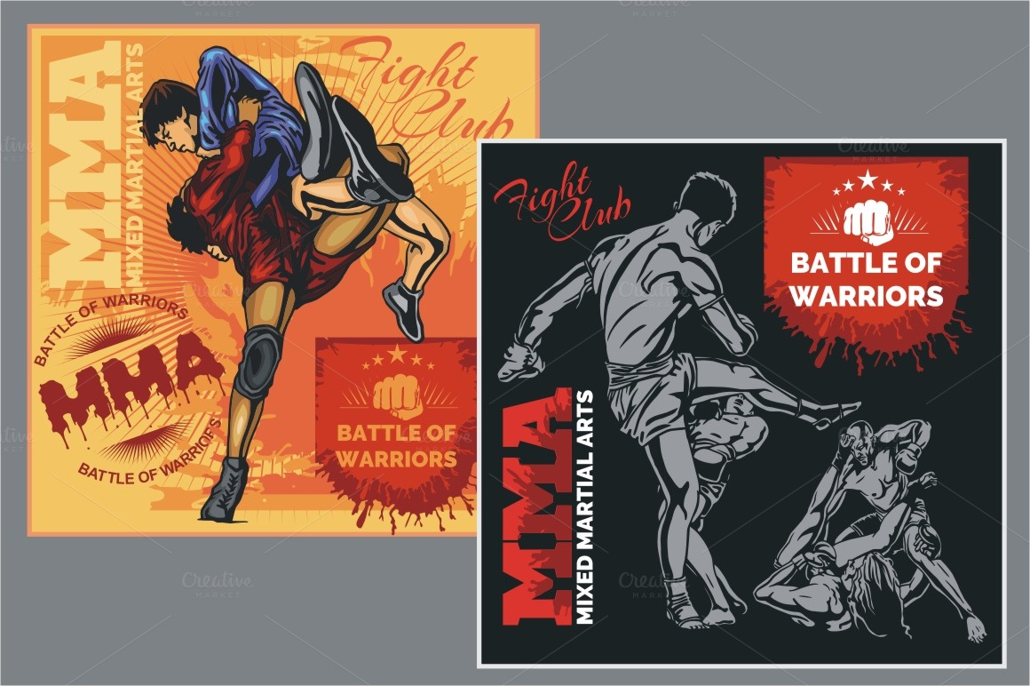 Mixed Martial Arts   Vector Designs    Illustrations On Creative