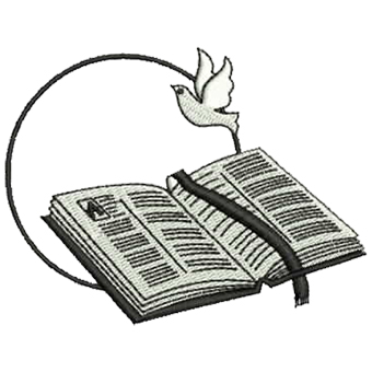 Open Bible And Dove Embroidery Download   Clipart Best   Clipart Best