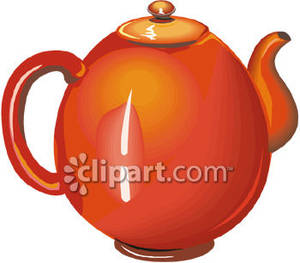 Red Tea Kettle Or Tea Pot Royalty Free Clipart Picture