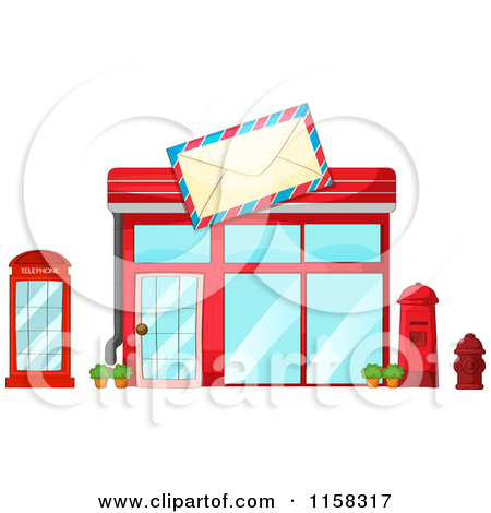 Royalty Free  Rf  Post Office Building Clipart Illustrations Vector