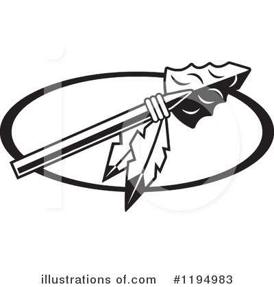 Royalty Free  Rf  Spear Clipart Illustration By Johnny Sajem   Stock