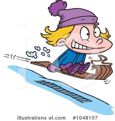 Royalty Free Sledding Clipart Illustration 1048107 Jpg