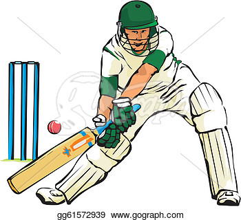 Vector   Cricket   Bat And Ball Game  Stock Eps Gg61572939   Gograph