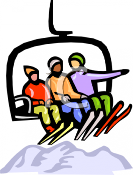 0511 1007 0302 0947 Skiers On A Ski Lift Clipart Image Jpg