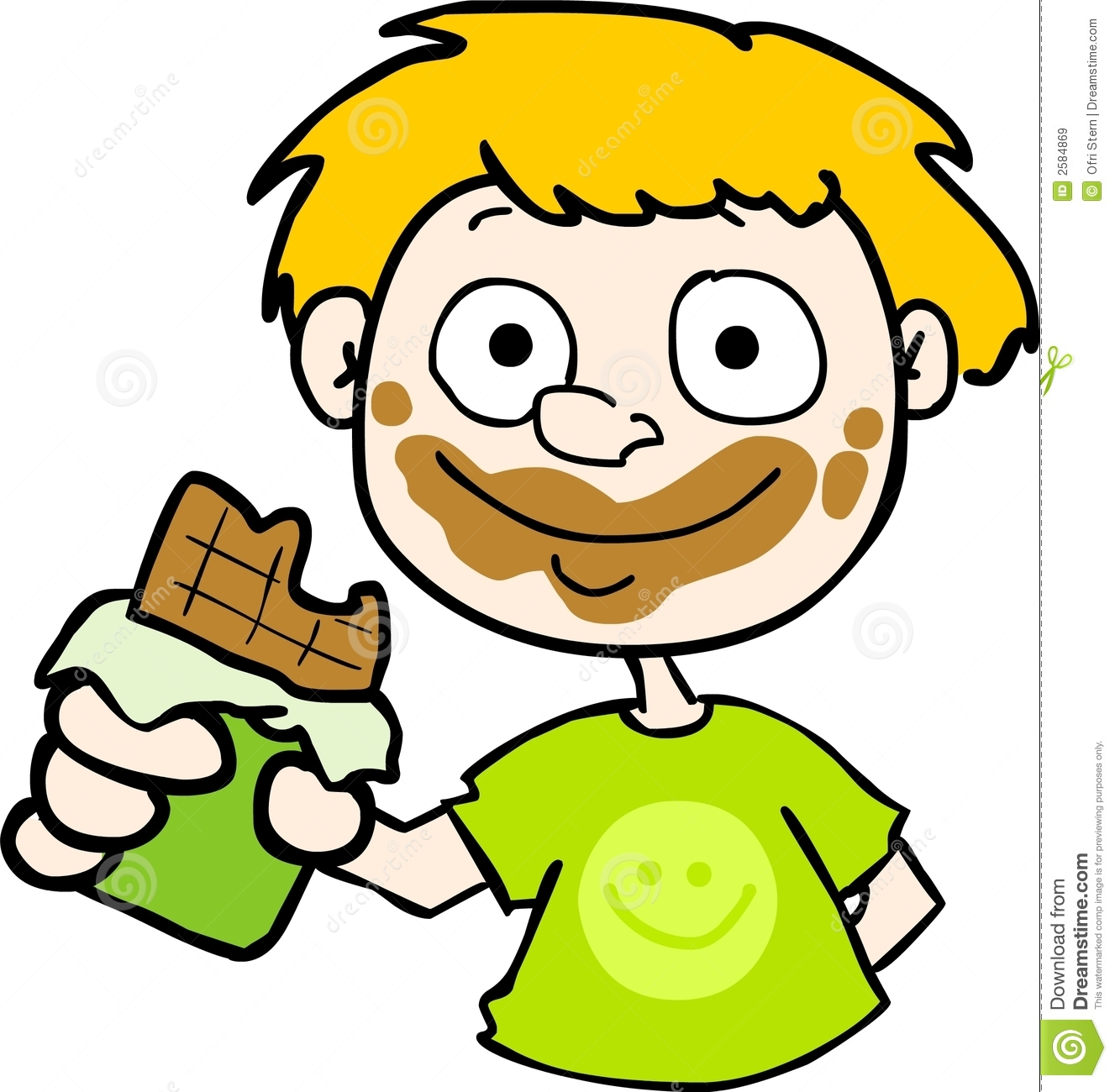 Girl eating chocolate clipart clipart kid