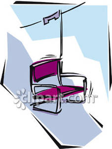 An Empty Chair On A Ski Lift Royalty Free Clipart Picture