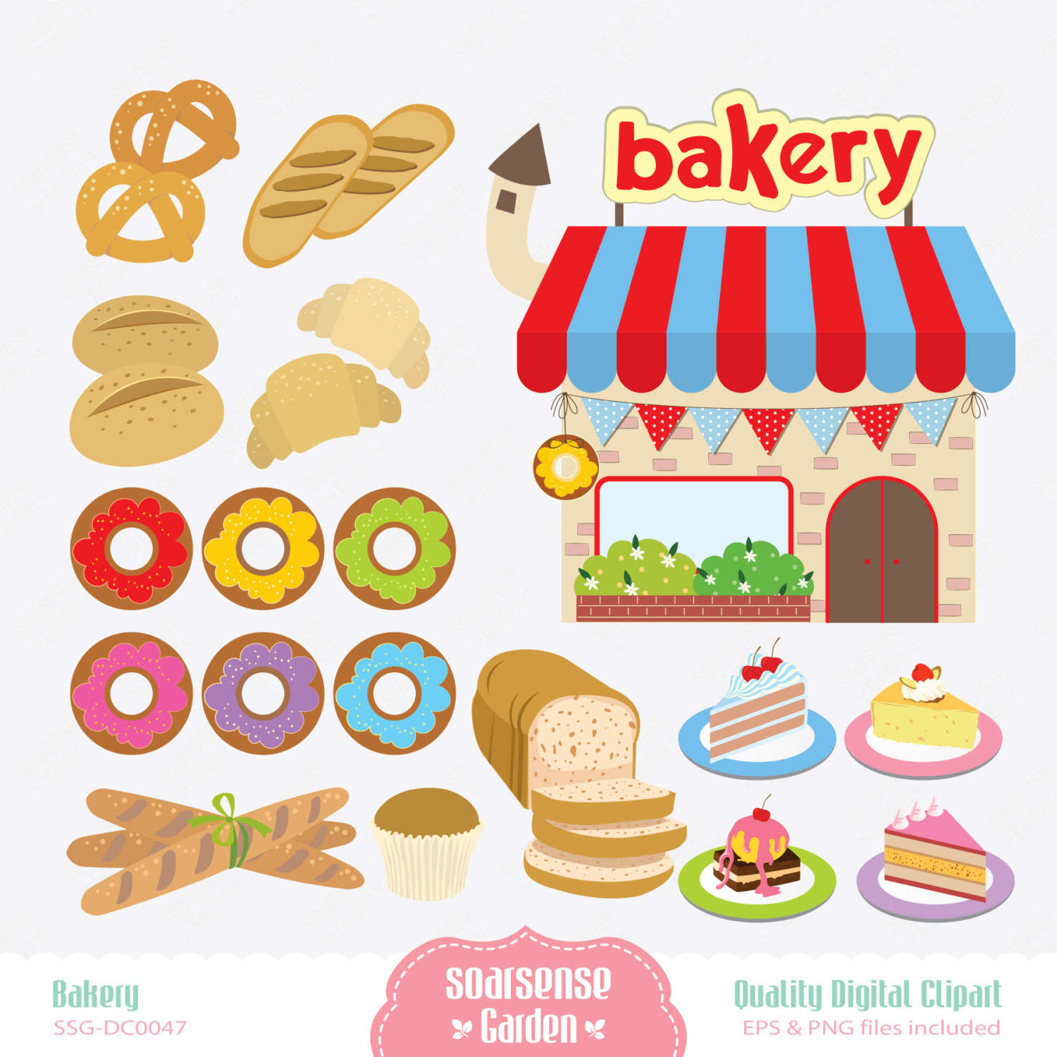 Bakery Digital Clipart Breads Clip Art Cakes Clip Art By Ssgarden
