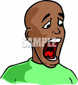 Black Man Yelling   Royalty Free Clipart Picture