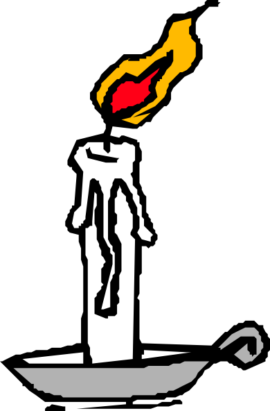Burning Candle Clip Art At Clker Com   Vector Clip Art Online Royalty