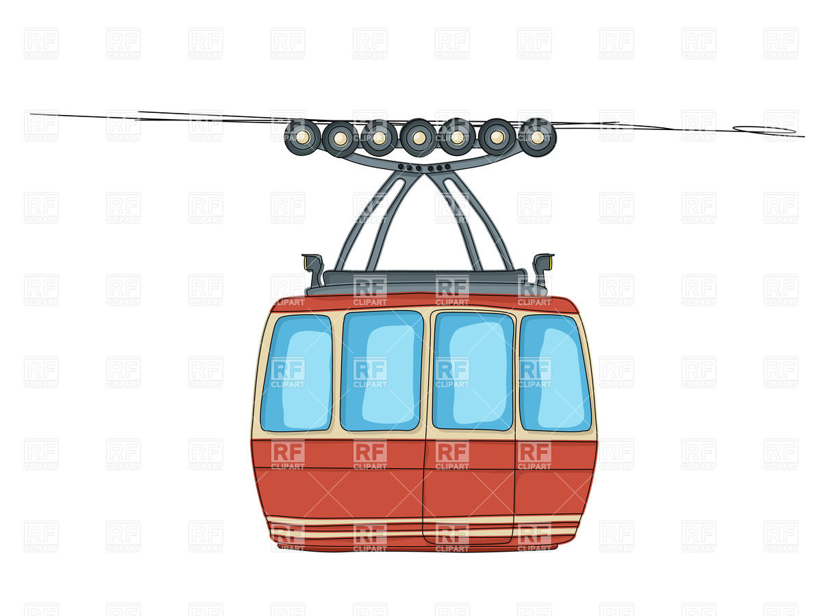Cable Car On Ropeway Cartoon Drawing 20273 Transportation Download