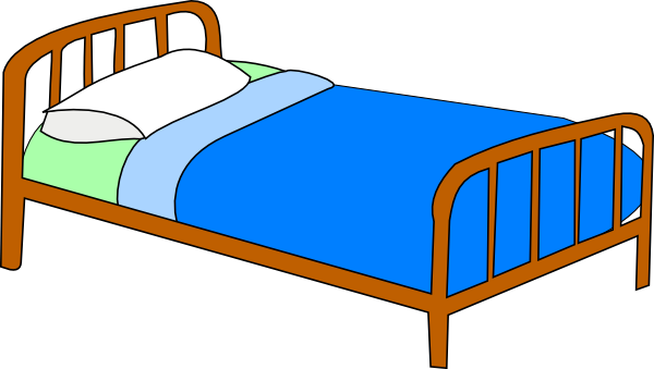 Cartoon Bed Clipart - Clipart Kid