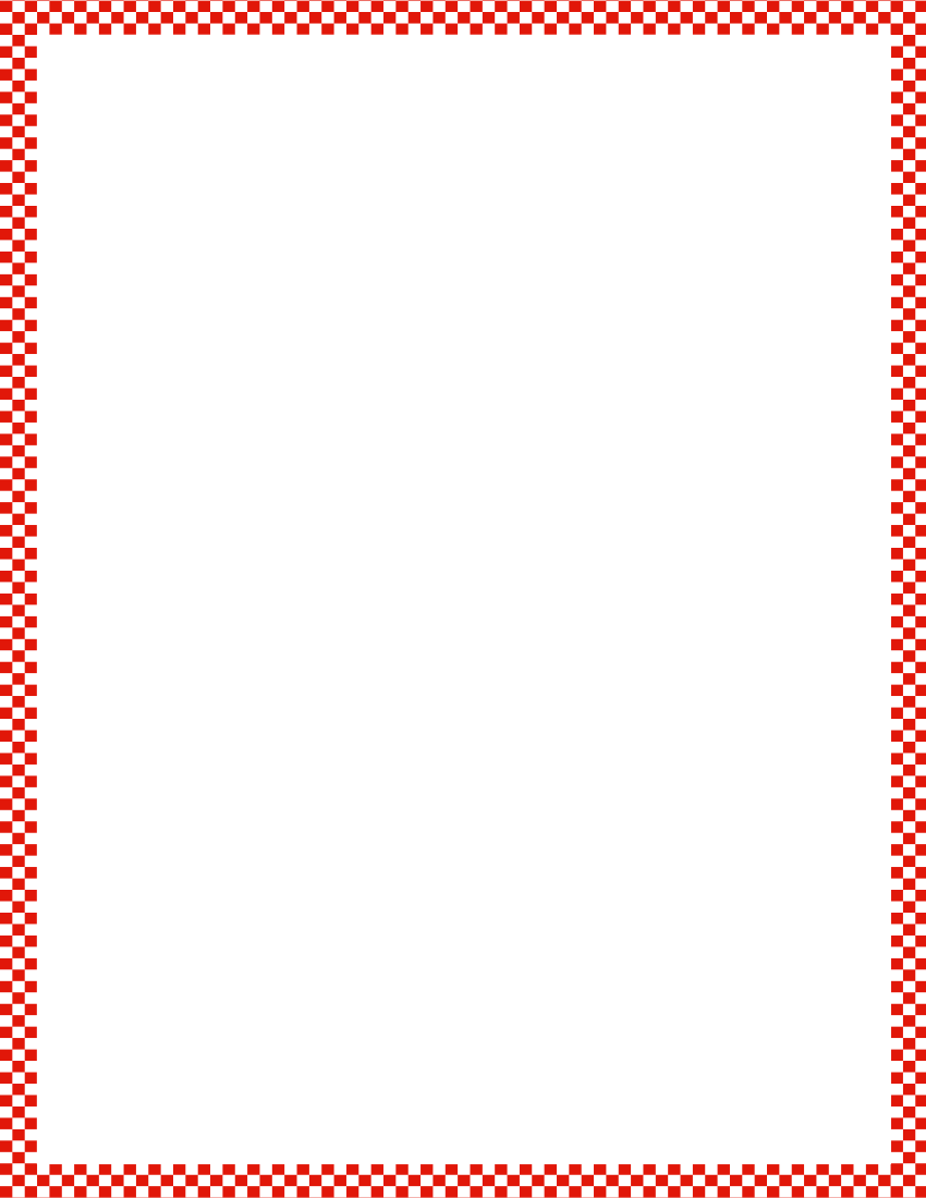 checkerboard outline frame red clipart