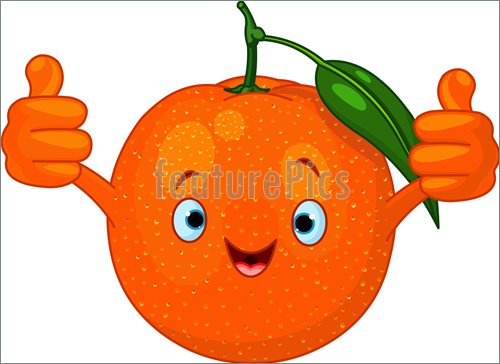 Cheerful Cartoon Orange Character Illustration    Clip Art To Download