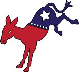 Democrat Clipart Image   Democratic Mascot Donkey