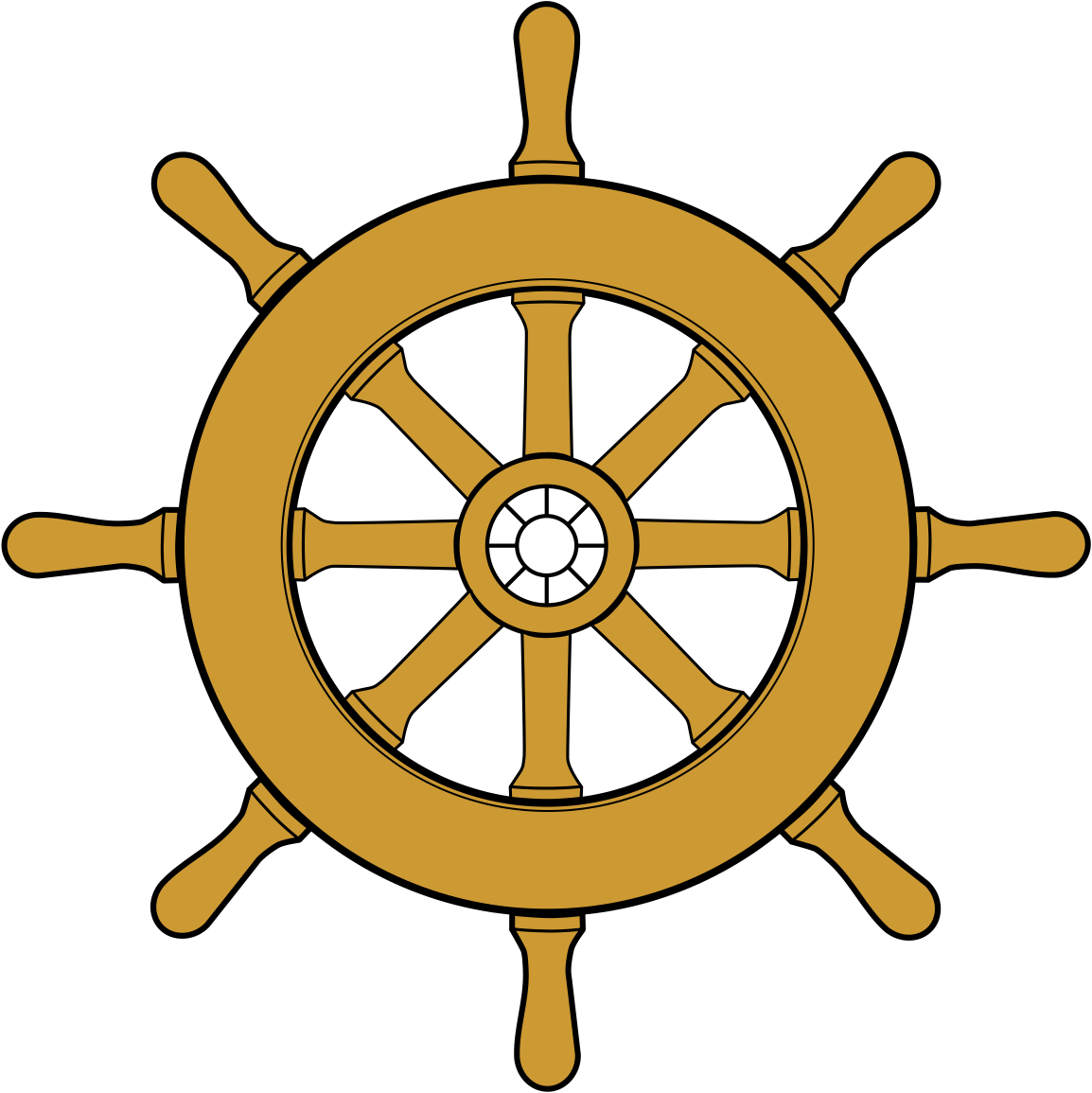 Description Steering Wheel Ship 1 Png