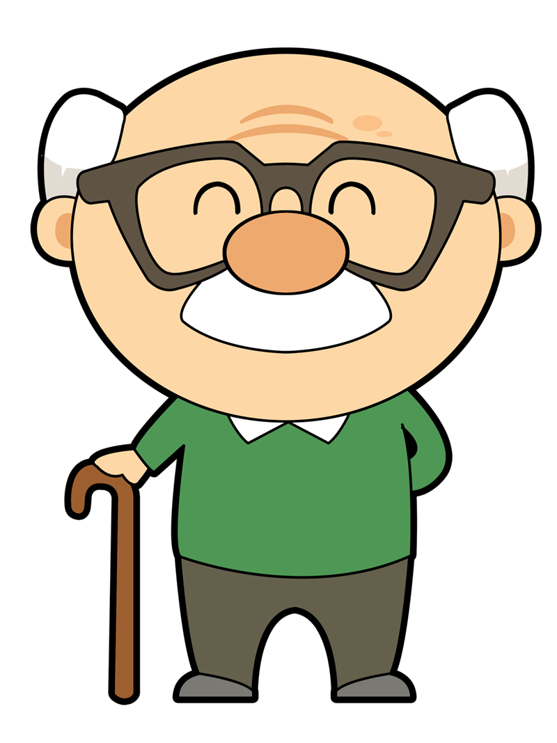 Free Cute Cartoon Grandpa Clip Art