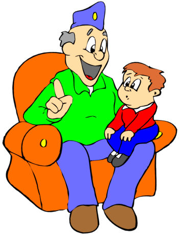 Grandpa And Grandson Clip Art