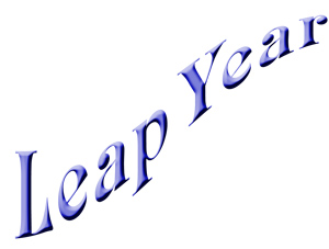 Leap Year Banner Clipart This