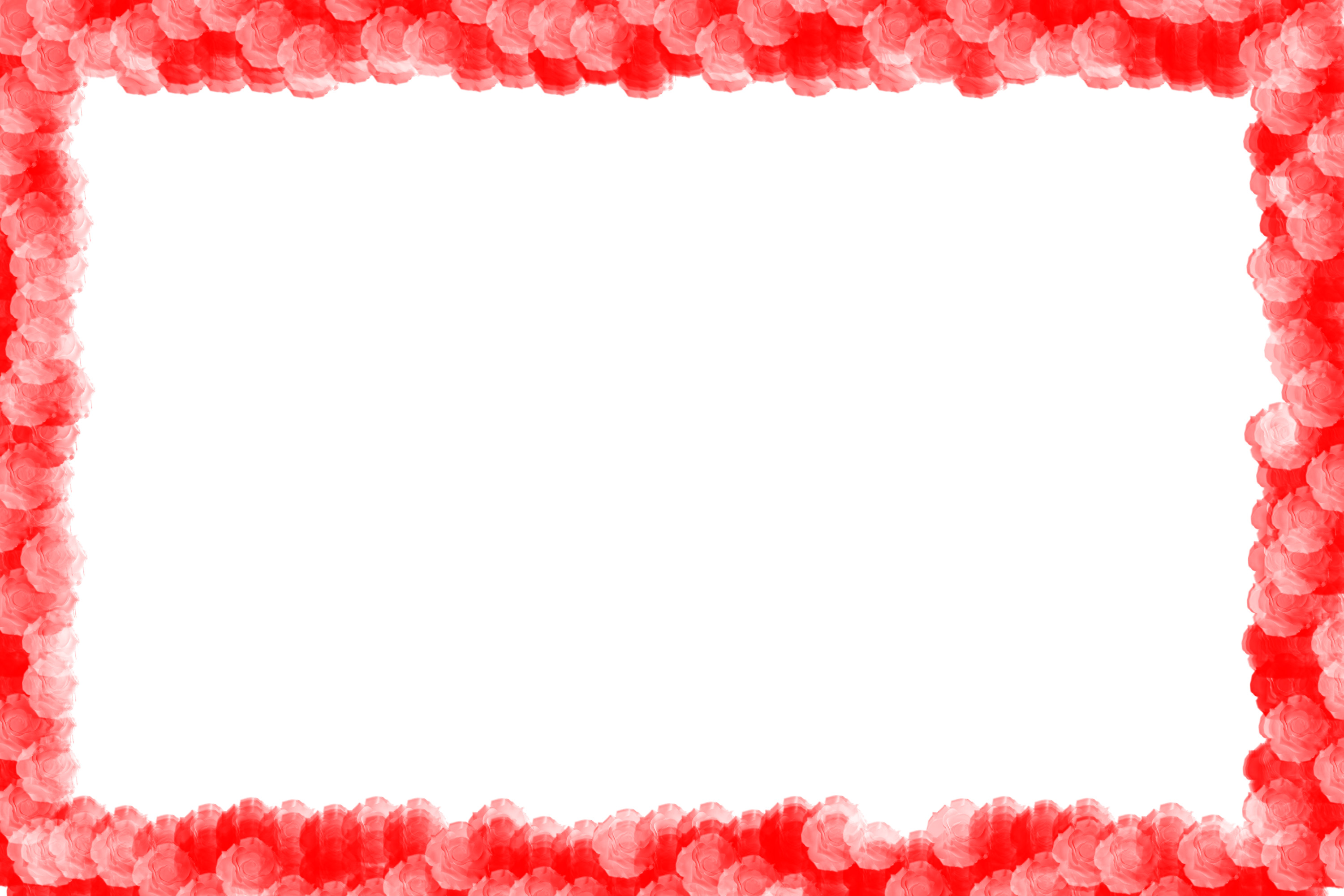 red flower frame png frame
