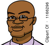 Royalty Free  Rf  Bald Black Man Clipart   Illustrations  1