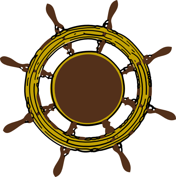 Ship Steering Wheel Clip Art At Clker Com   Vector Clip Art Online