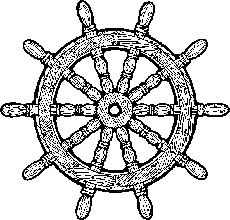Pirate Ship Wheel Vector