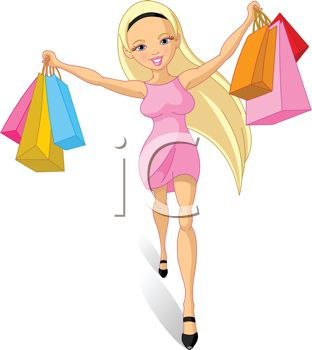 1101 0416 5038 Sexy Girl Going On A Shopping Spree Clipart Image Jpg