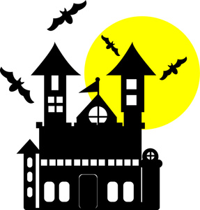 Haunted House Clipart Black And White   Clipart Panda   Free Clipart