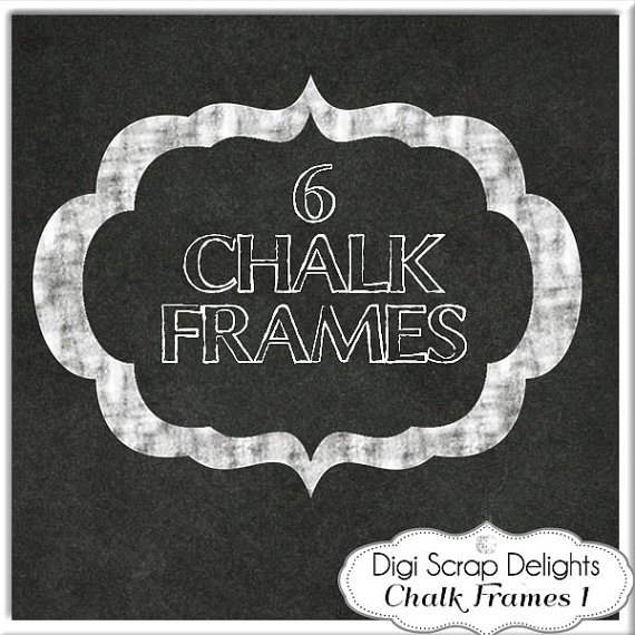 Chalkboard Frame Clipart Clipart Kid