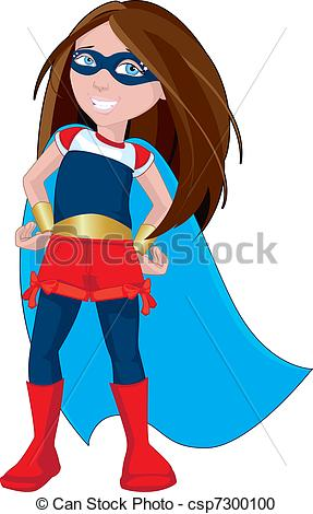 Illustration Of Super Hero Girl   Character Illustration Of A Strong