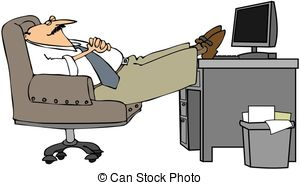 Man Asleep At His Desk   This Illustration Depicts A Man