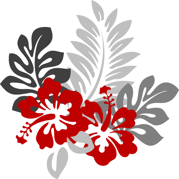 Red Hibiscus Clipart - Clipart Kid