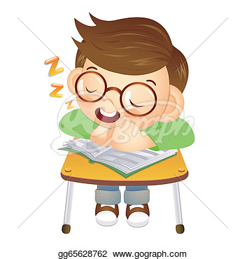 Stock Illustration The Boy Sat Down On The Chair Fell Asleep On A