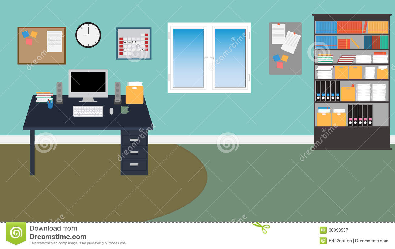 Office room clipart clipart suggest for Office design vector