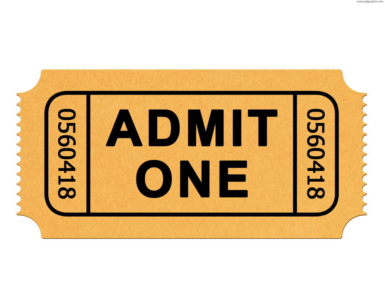 Admit One Ticket Clipart Clipart Suggest