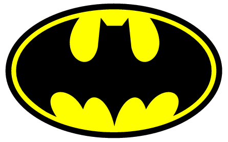 Clever image within free printable batman logo